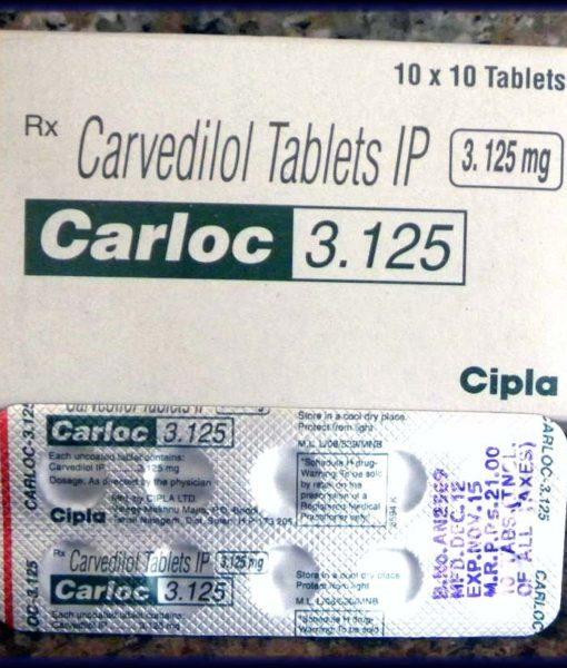 Coreg-Cardivas-Carvedilol 3.125mg